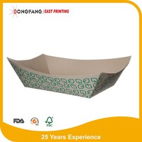 Paper Boat Lunch Tray