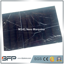 2017 hot sale chinese nero marquina black marble tile for flooring tile