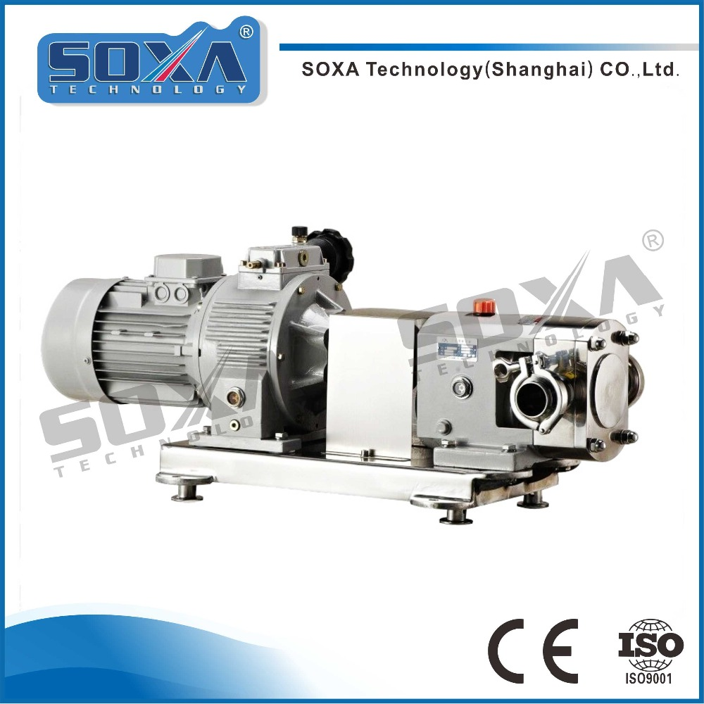 Sanitary Stainless Steel High Temperature Resistance Single Butterfly Curved Rotary Lobe Pump