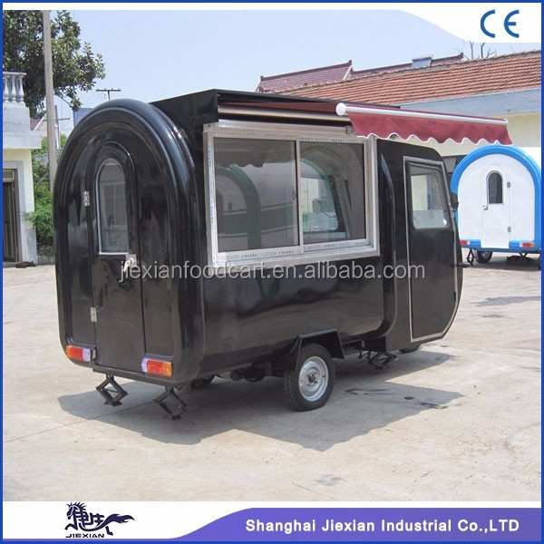 JX-FR220G Shanghai Jiexian china mobile electric tricycle food vending cart/concession food trailers