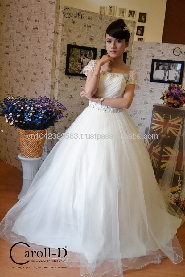Body embrace muserin fabric shade Alibaba wedding dresses