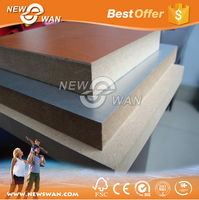 solid color melamine mdf board price / laminate mdf sheet for furniture