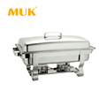 MUK hotel restaurant supplies luxury high quality silver food heater chafing dish