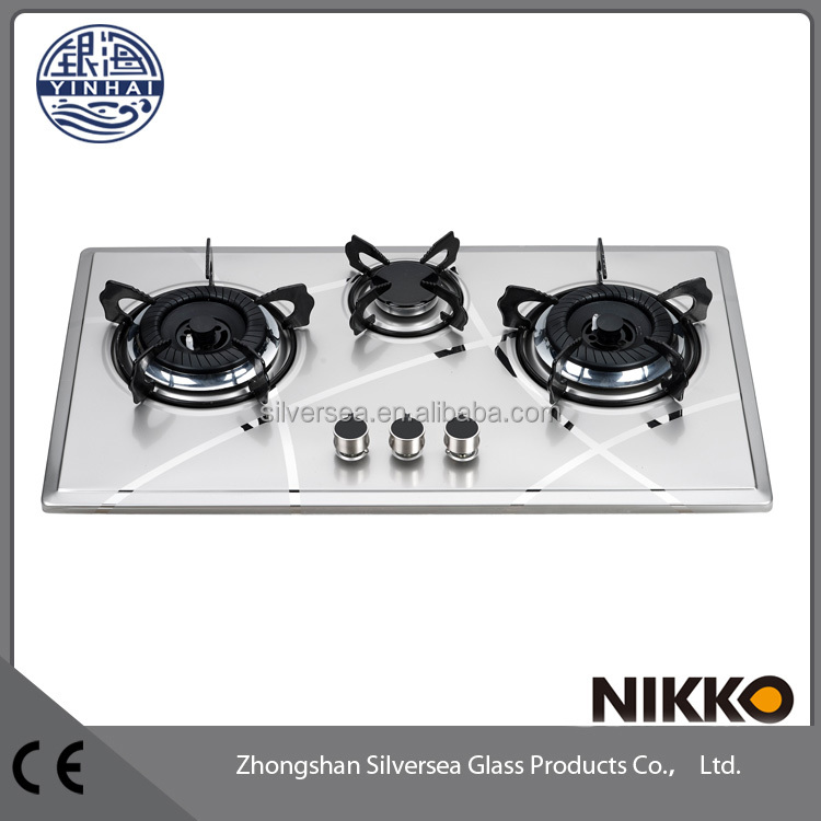 Wholesale indoor cooking cast iron sunflame gas stove 3 burner price