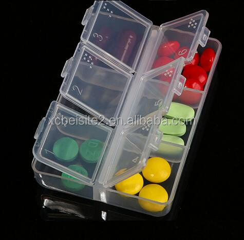 cy275 Mini Portable Pill Organizer Empty Braille Drug Storage Box 6 Cells Medicine Case Box Creative Design Box