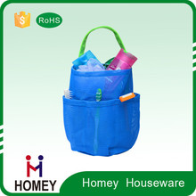 Trendy Polyester Bathroom Trilateral storage basket for baby Toy shampoo or samll accessories
