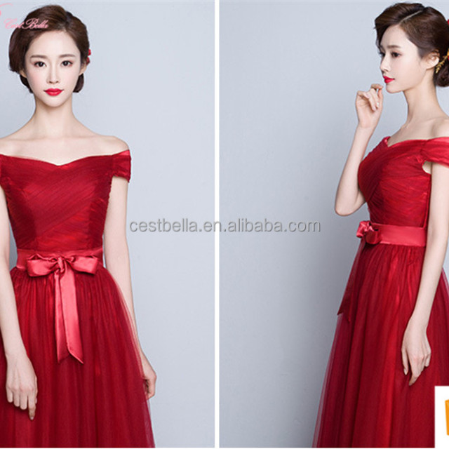 New Collection Colorful Alibaba Best Price Long A Line Bridesmaid Dress
