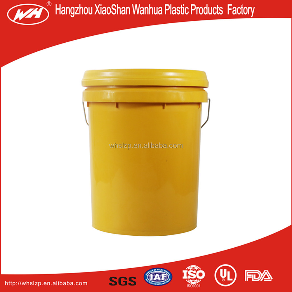 15 liter plastic paint buckets with lid and metal handle