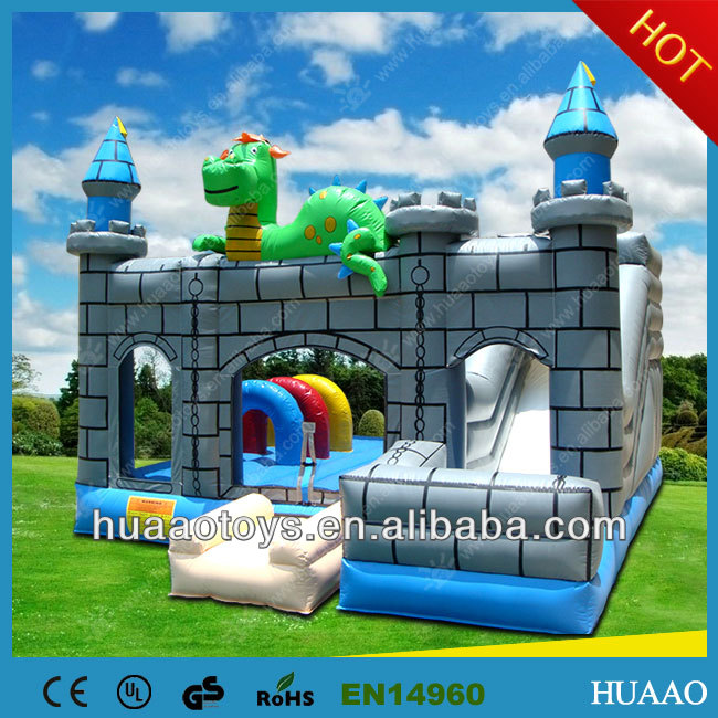 Commercial dragon inflatable bouncy castle pvc for sale