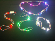 Low Price Halloween Bead Necklace Flashing LED Quick Delivery
