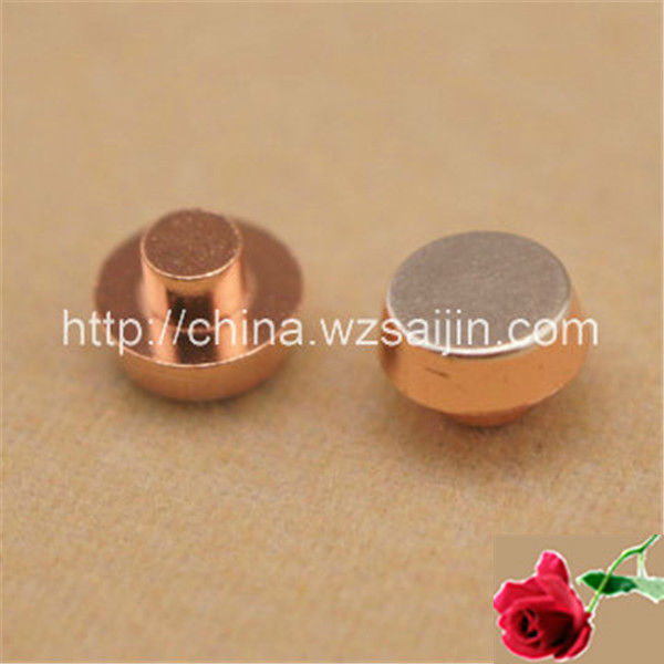 Used in Relays Electrical Rivets 83% Silver 17% Cadmium Oxide Ag/CdO Silver Cadmium Oxide Contacts