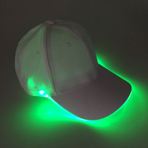 Hot Selling Battery Powered LED Baseball Cap For Sports Events or Promotional Gifts