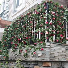 Wall Hanging Flower Vines Home Garden Decor Rose Artificial Flower Vines For Wedding Decoration