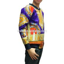 ready made clothed by wax fabric material man jacket for men use in African style