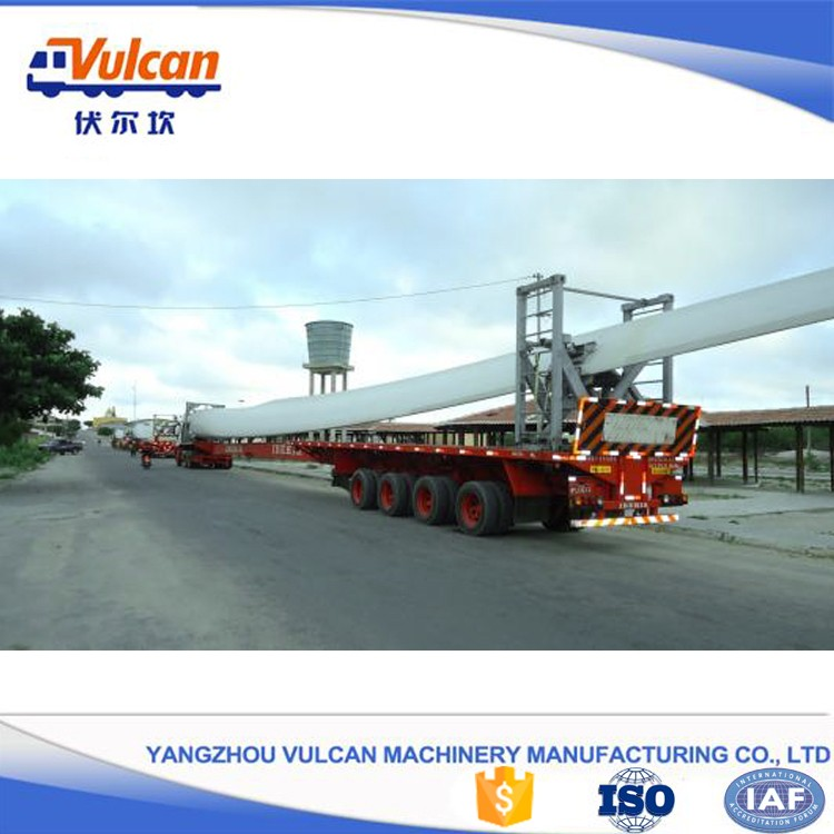 Heavy duty hydraulic steering wind blade semi truck trailer