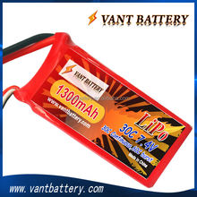 Factory 2S 7.4V 1300mah 30C for 450/500/600 rc helicopter lipo battery with T connector