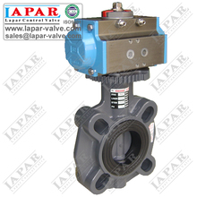 Italy FIP Plastic Butterfly Valve with Pneumatic actuator