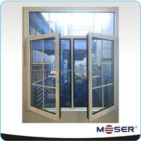 Moser thermal break grilled design aluminium doors and windows