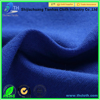 polyester cotton spandex dress fabric knitted single/double jersey fabric textile