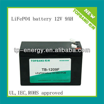 TB-1209F mini motorcycle battery 12v 9ah with PCM (two years warranty)
