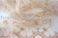 curtain fabric with plain embroidery