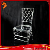 2015 high quality used cheap stacking clear plastic chiavari chair