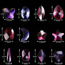New Design 50pcs/bag Star/Flower/Moon/Tear Drop/Diamond Shape nail stone nail art rhinestone for #Christmas nail art decorations