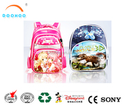 Promotional wholesale Cartoon Embossing Printing Kids School bag