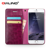 Extra Slim Professional Exceptional Quality Croco Genuine Leather Case For Iphone 6 Plus Custom Fitted