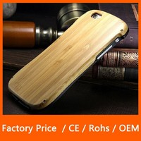 Factory Price Wooden Metal Hard Bamboo Shockproof Phone Case For iPhone 6