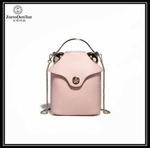 2017 Manufacturer Customized Ladies Girls Women Soft Real Leather Bucket Tote Handbags Shoulder Satchel Bags