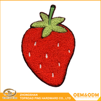 Newest Custom Chenille Patch Strawberry Cartoon Patches for Clothing Chenille Custom Patch