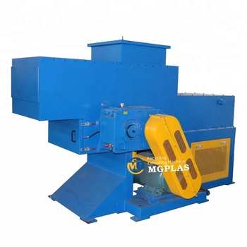 factory price waste plastic PPR PVC HDPE PE  thick wall pipes shredder machine with movable feeding silo