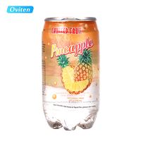 340ml Pineapple flavored drink, fruit flavored carbonated sparkling water