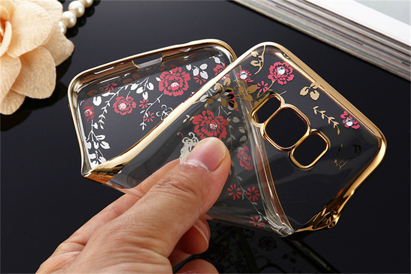 for samsung s8 case,Amazon hot selling Secret garden beautiful flower with diamond TPU case for Samsung Galaxy S8/S8 Plus