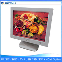 Hot Sell 12.1 Inch White Color VGA Input LCD Computer Monitor