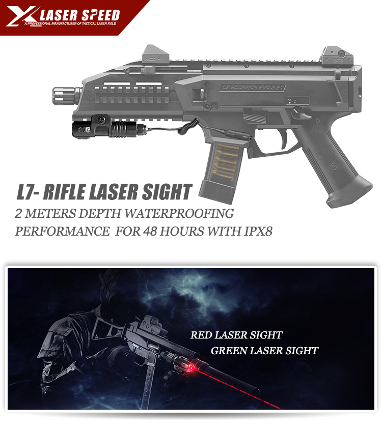 IPX8 rifle mounted air gun hunting red laser sight