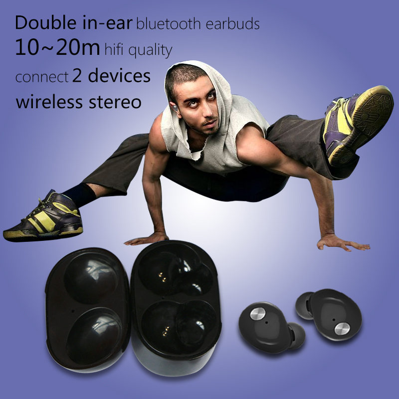 New Stereo Folding Sports Stereo Wireless Bluetooth earpiece <strong>communication</strong> With Microphone for iphone