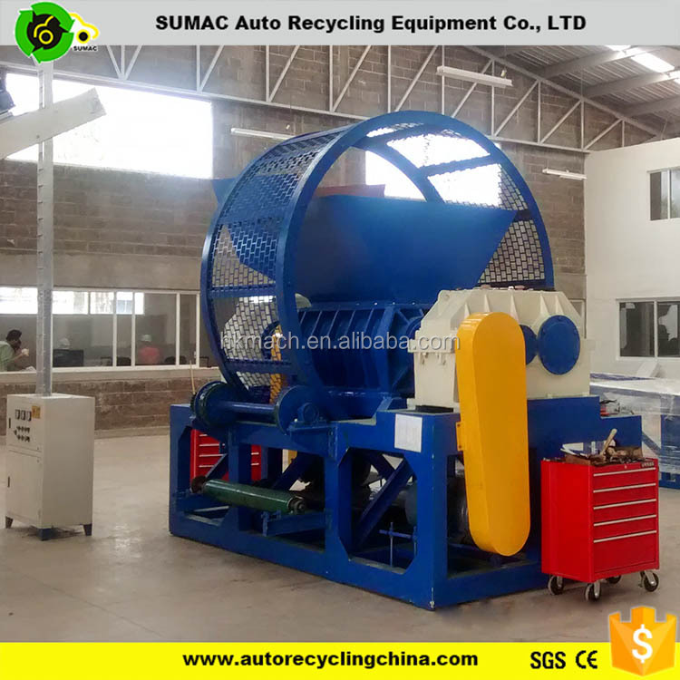 heavy duty used tire recycling shredder equipment for sale