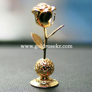 24K Gold Rose Small Size Car Aroma and Home Aroma Decorative With Gift Case