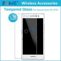 Factory Price Premium Tempered Glass For Smart Phone Screen Protector Film Cover For Huawei Honor 3X 750