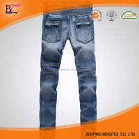 Fashionable new low tide men washed stretch biker jeans
