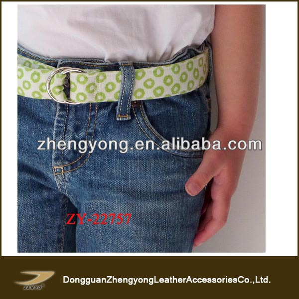 cute hand printed lime green waist belt for kids,kids belt