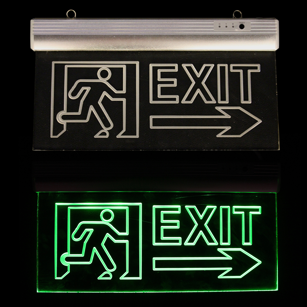 high quality emergency exit sign light with 3 hours emergency time Item JZ-50B