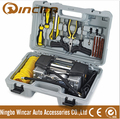 12V mini air compressor with repair kits hand case