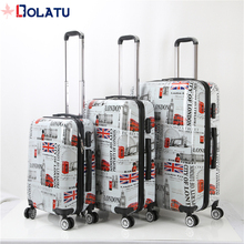 2017 popular abs suitcase cheap luggage set 3pcs school luggage bags for kids