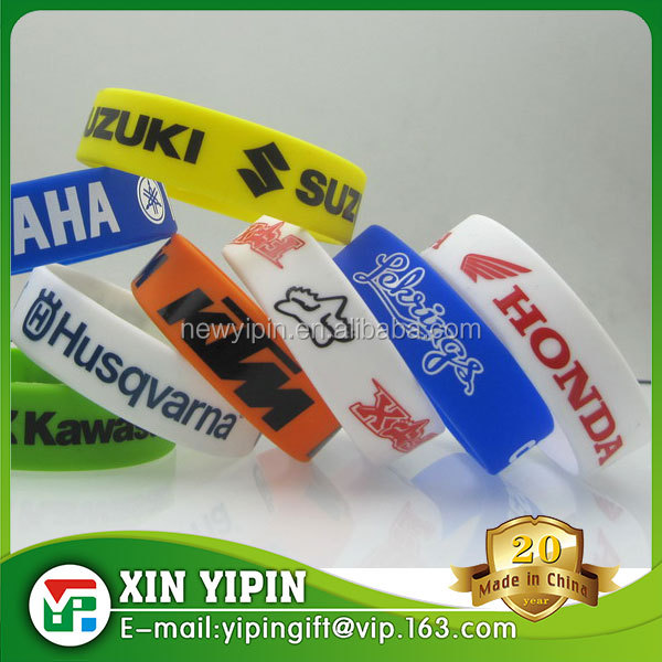 Multi-color rainbow silicone bracelet,Mixed color rubber silicone wristband