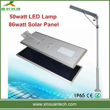 Wholesale monocrystalline silicon solar energy integrated all in one led street light 50w