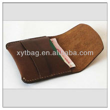 High quality genuine cow leather men card holder factory wholesale