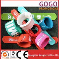 Factory manufacture 100% eco-friendly steel spring slap band for giftware, promotional slap bracelets with cheaper price